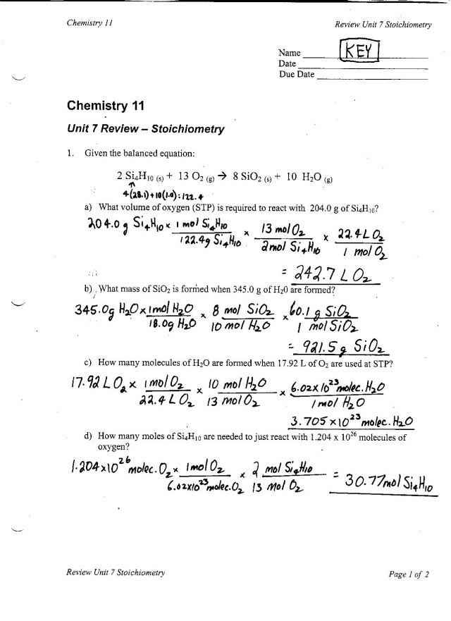 Chemistry A Study Of Matter Worksheet Mole Mass Problems