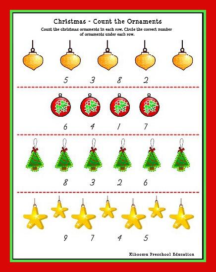 Christmas Number Worksheets For Kindergarten The Best Worksheets