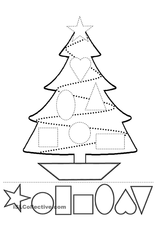 Christmas Worksheets Kindergarten Esl 291238