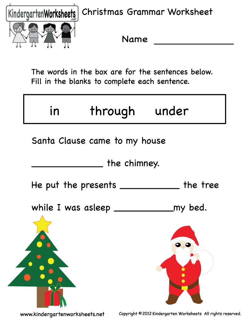 Christmas Worksheets Print