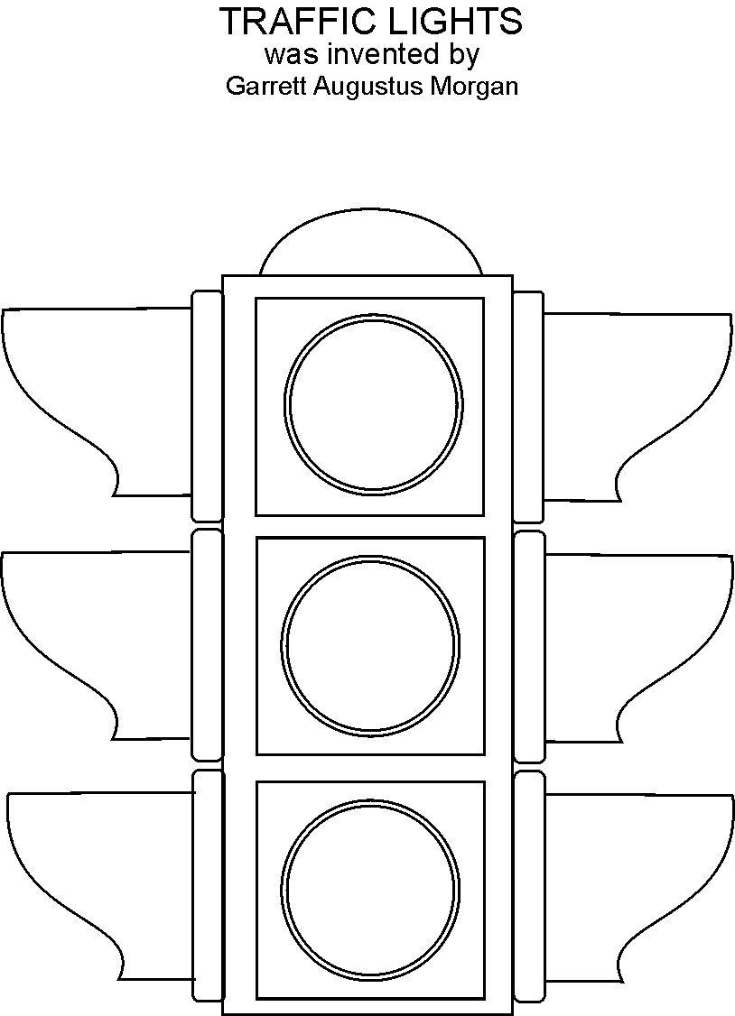 Classic Traffic Light Coloring Page Printable In Funny Traffic