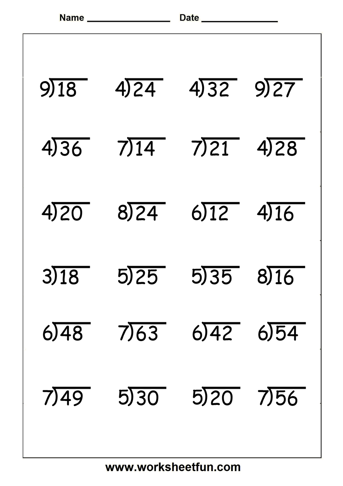 Collection Of Division Worksheets Grade 5 Free