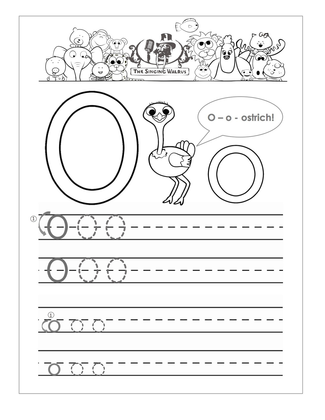 Collection Of Letter O Printable Preschool Worksheets
