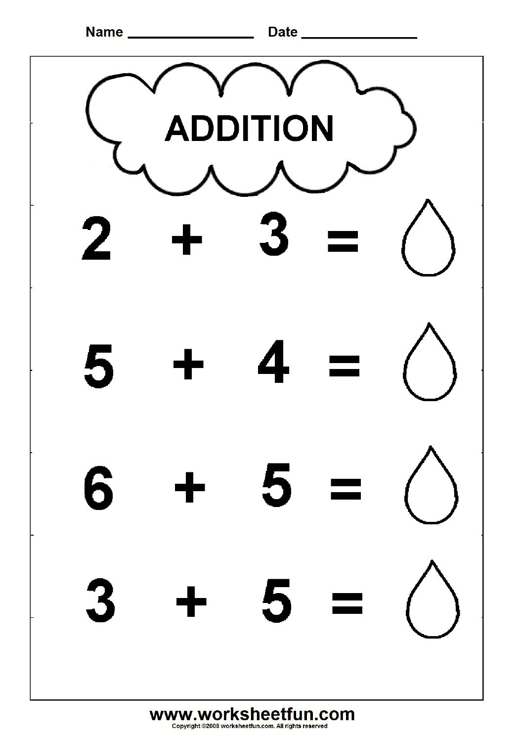 Collection Of Math Worksheets For Kindergarten Addition Free