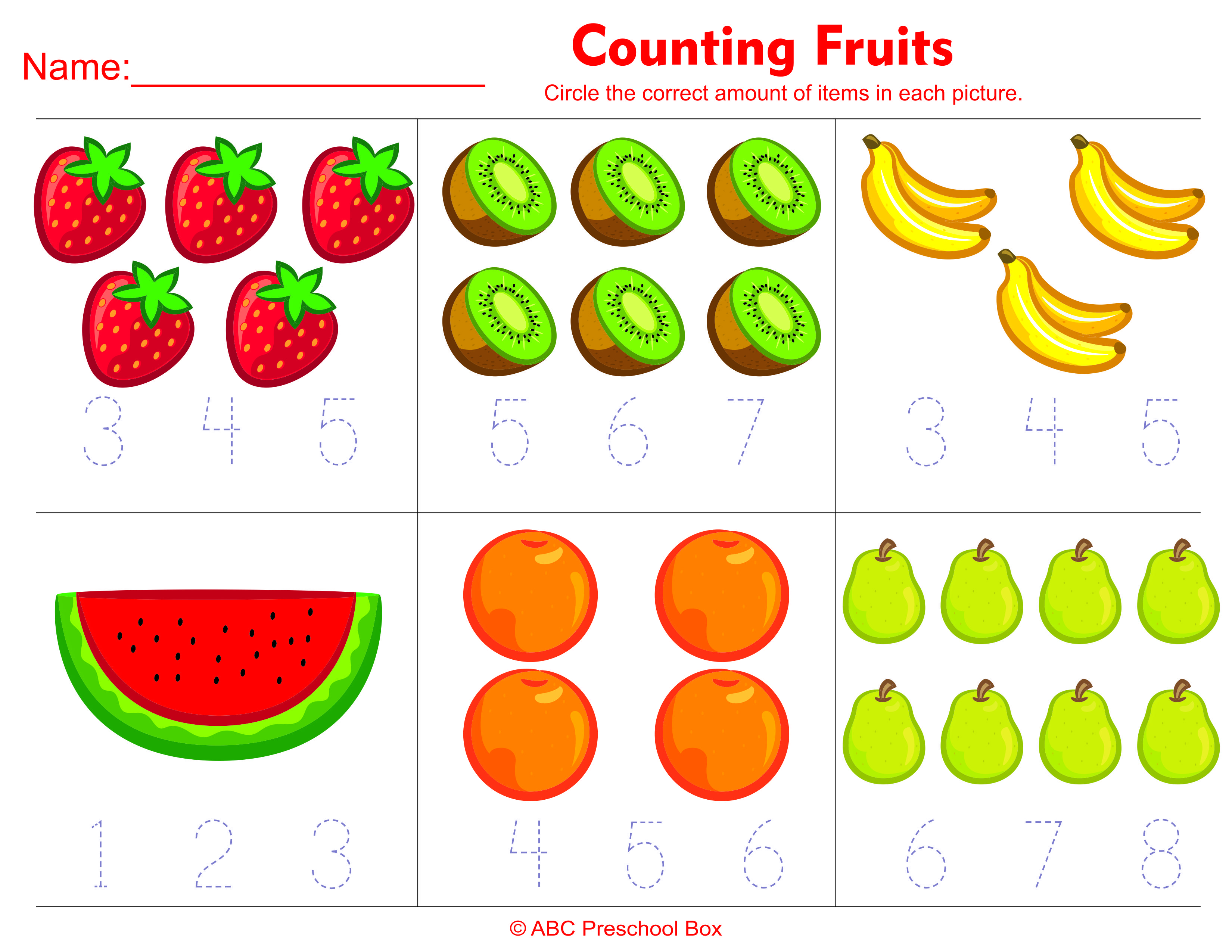 Collection Of Math Worksheets For Pre K And Kindergarten