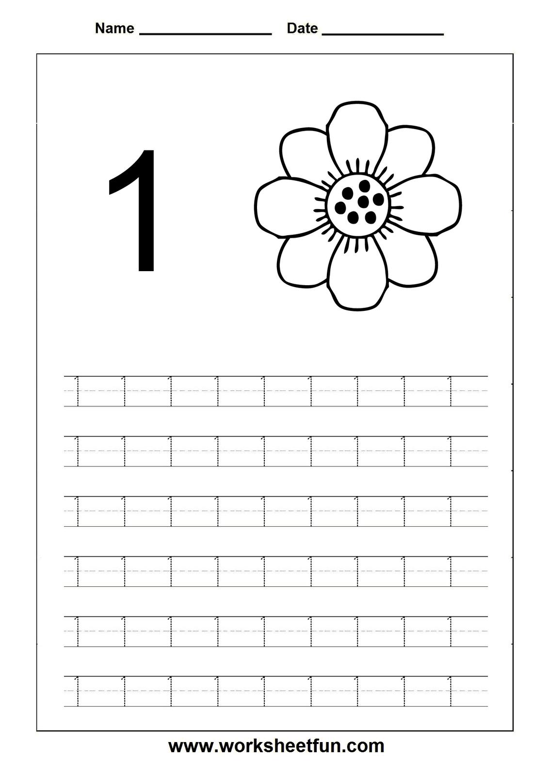 Collection Of Number 1 Worksheets For Pre K