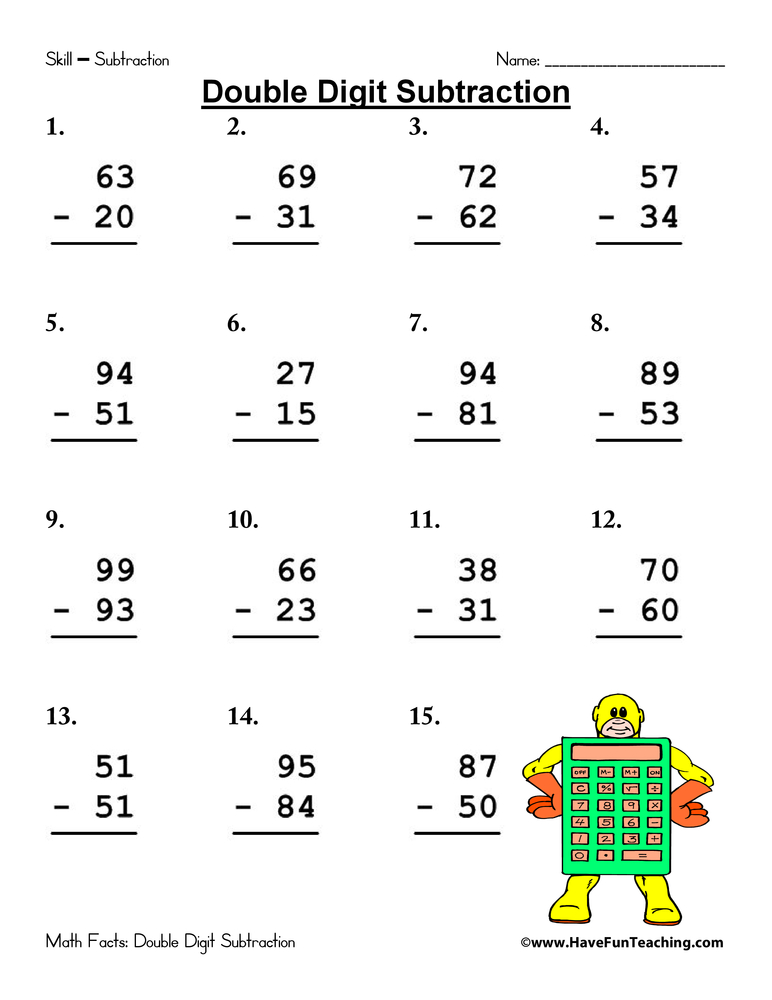 Collection Of Picture Subtraction Worksheets