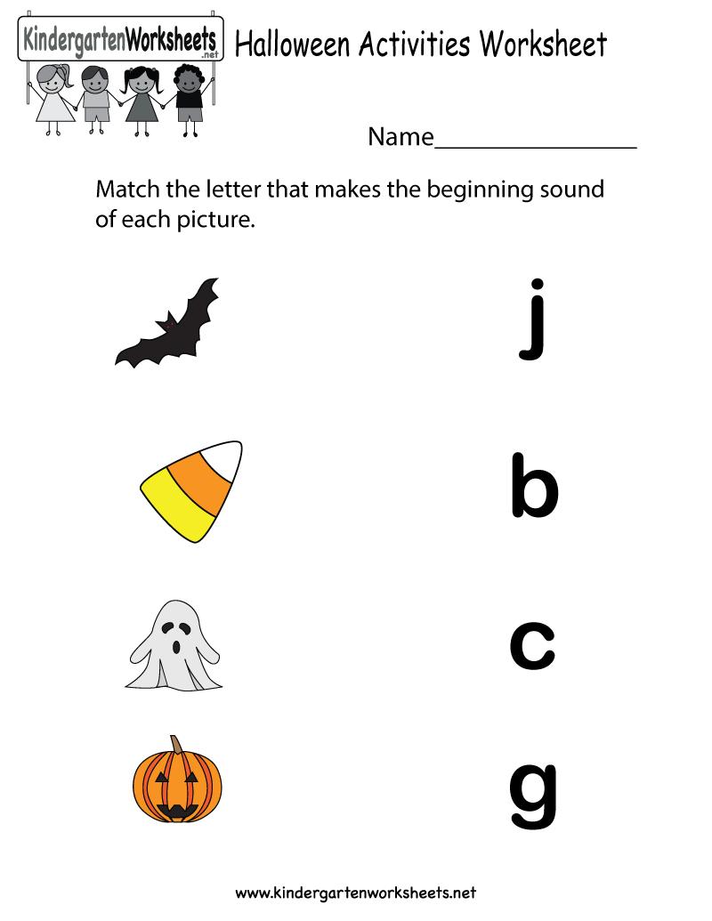 Collection Of Preschool Printable Halloween Activities