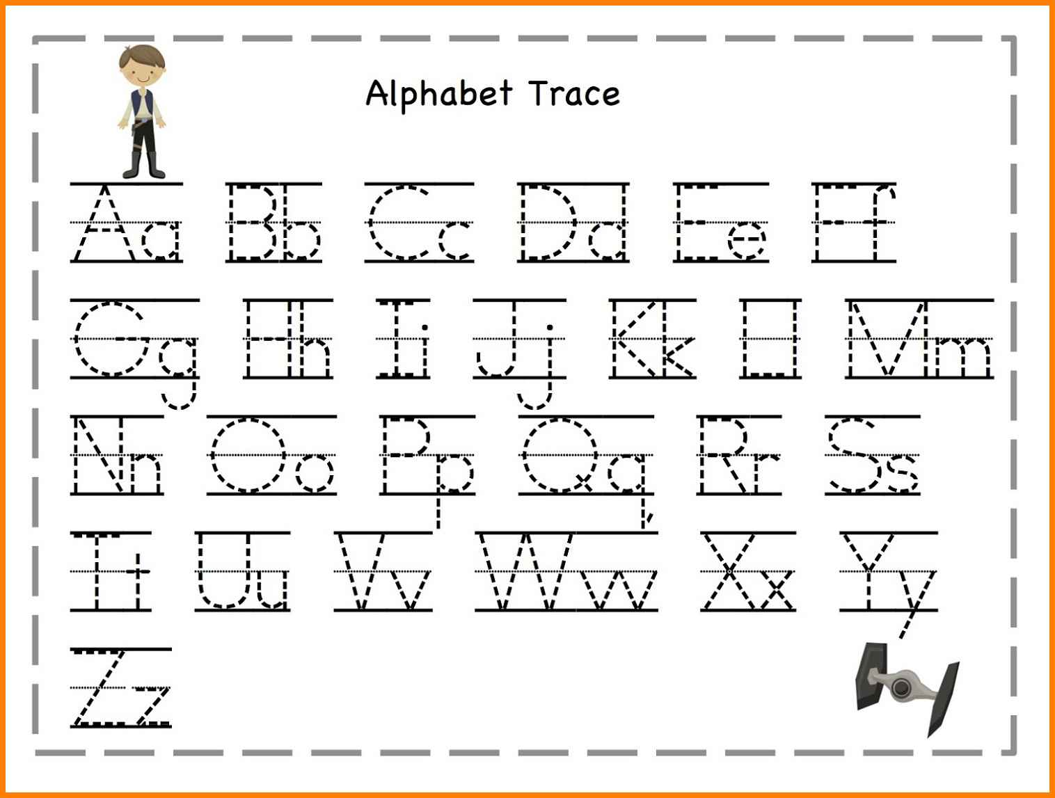 Collection Of Tracing Letters Worksheets For Kindergarten