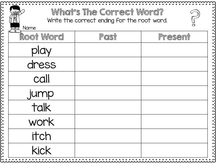 Collection Of Worksheet For Words Ending In Ed