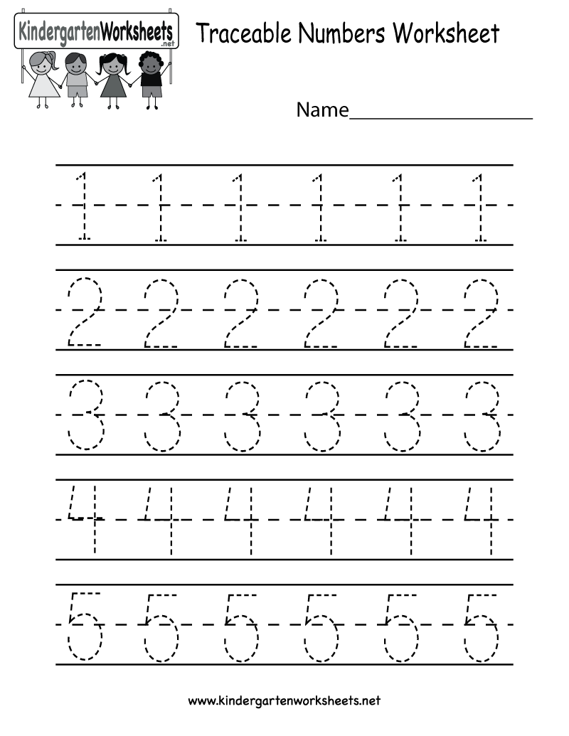 Collection Of Worksheets About Numbers For Kindergarten