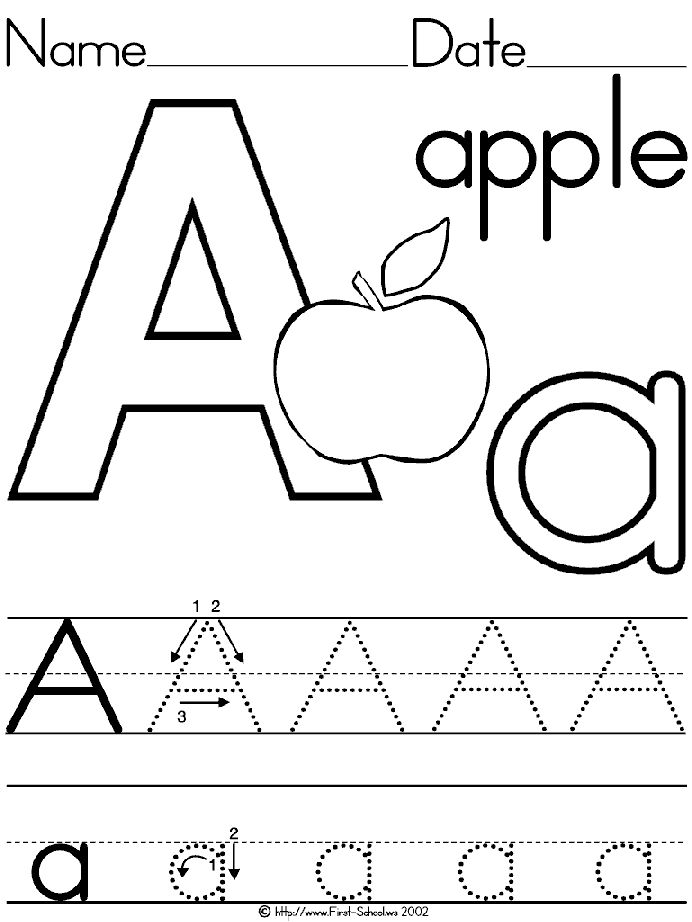 Collection Of Worksheets For Preschoolers On Letters
