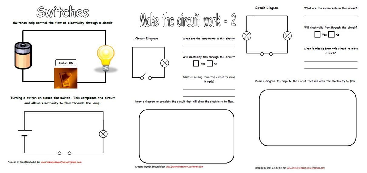 Collection Of Year 6 Circuits Worksheet