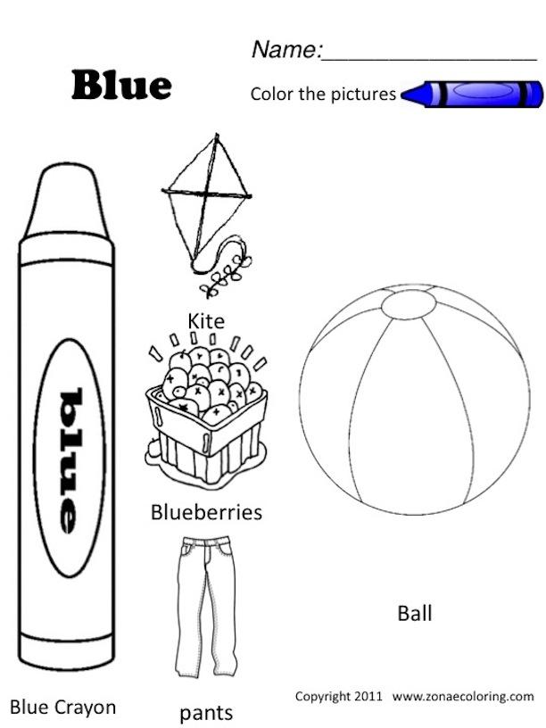 Color Blue Worksheets For Preschool Choice Image