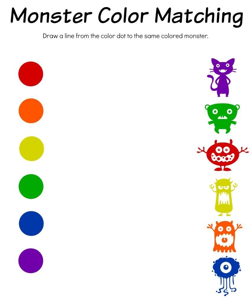Color Matching Worksheets For Kindergarten 407161