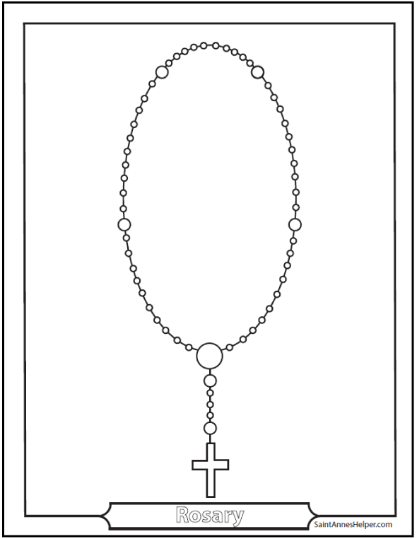 Coloring Rosary Worksheets For Kids Photo Rosary Diagram