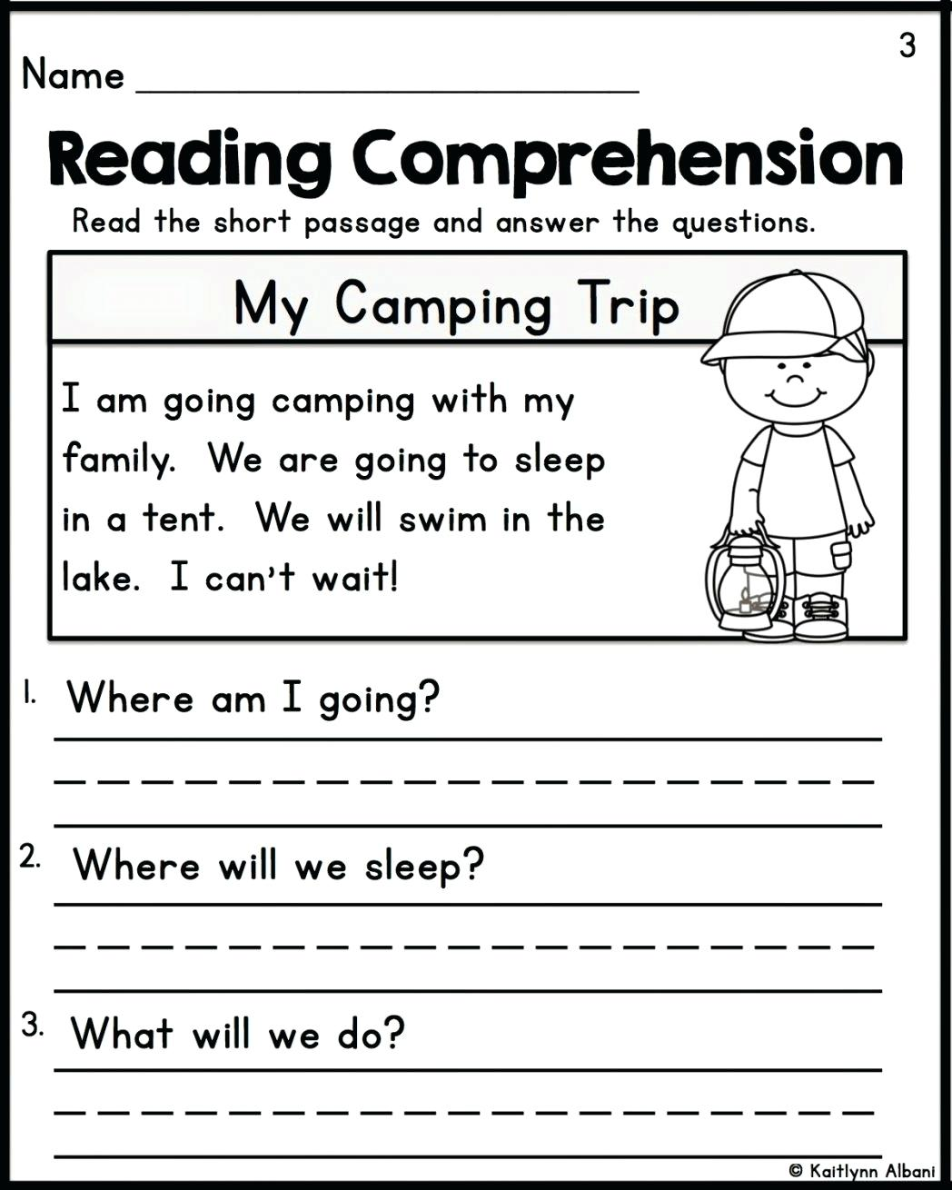 Comprehension Worksheets Grade 2