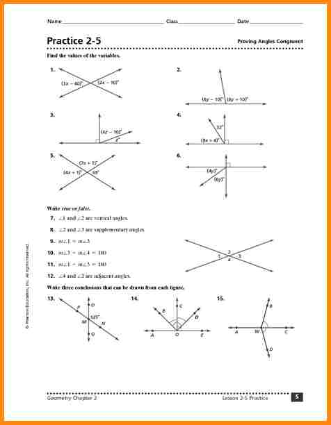 Congruent Angle Worksheet The Best Worksheets Image Collection