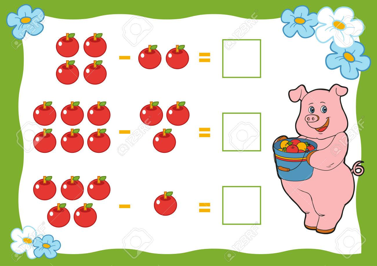 Counting Game For Preschool Children  Subtraction Worksheets