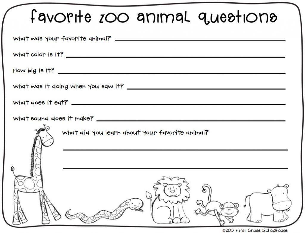 Create Writing Worksheets For Kindergarten Math Zoo Animals