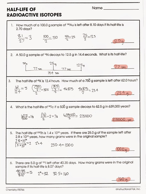 Dating Worksheet In Oxford Nuclear Decay