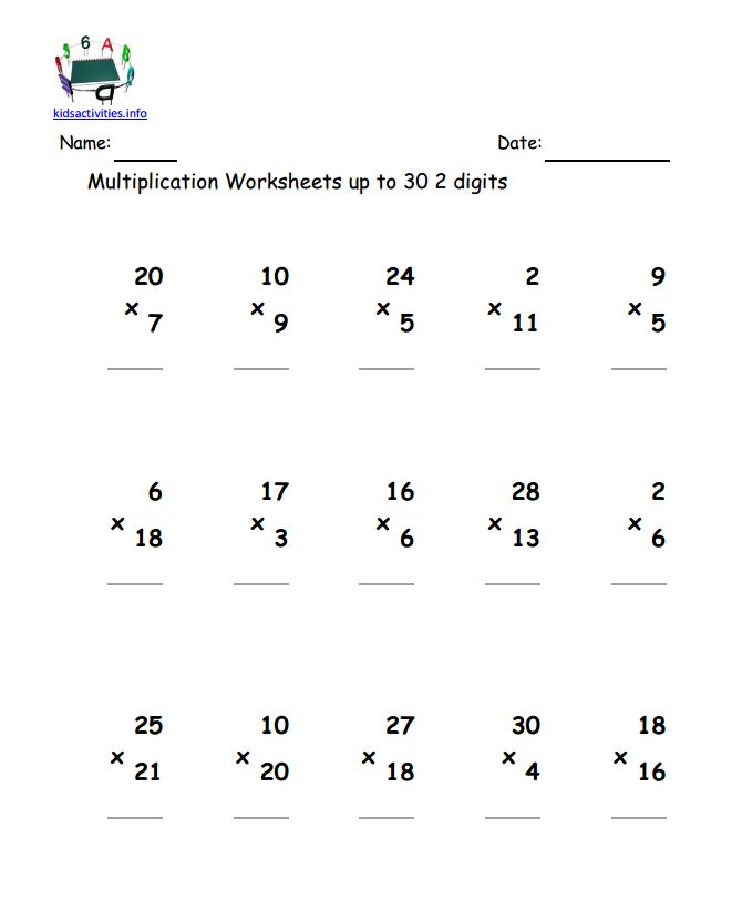 Double Digit Multiplication Worksheets Pdf The Best Worksheets