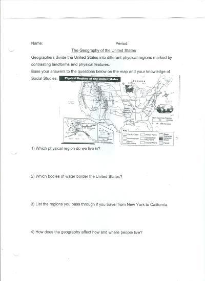 Eighth Grade Social Studies Worksheets