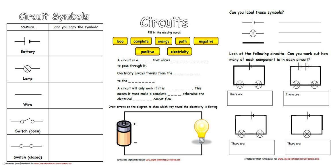 Electric Circuits Worksheets