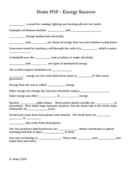 Energy Resource Worksheet The Best Worksheets Image Collection