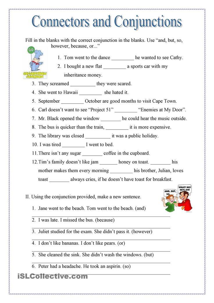 English Worksheet Because