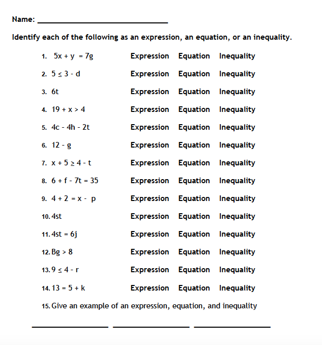 Equations And Inequalities Worksheet Fresh Periodic Trends