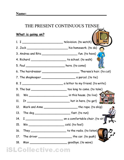 Exercise Present Simple And Continuous Pdf