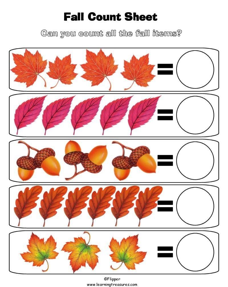 Fall Leaves Worksheets Preschool