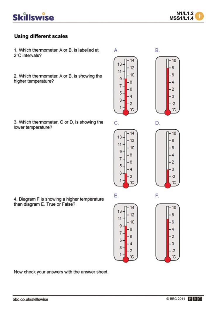 First Grade Thermometer Worksheet Elegant Worksheets For All