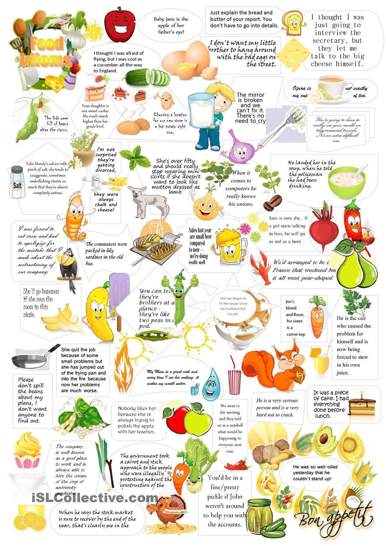 Food Idioms Worksheet