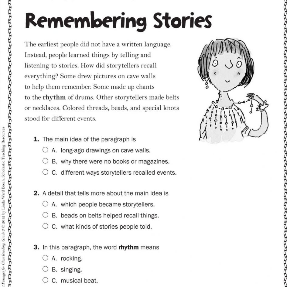 Free 2nd Grade Reading Comprehension Worksheets Multiple Choice