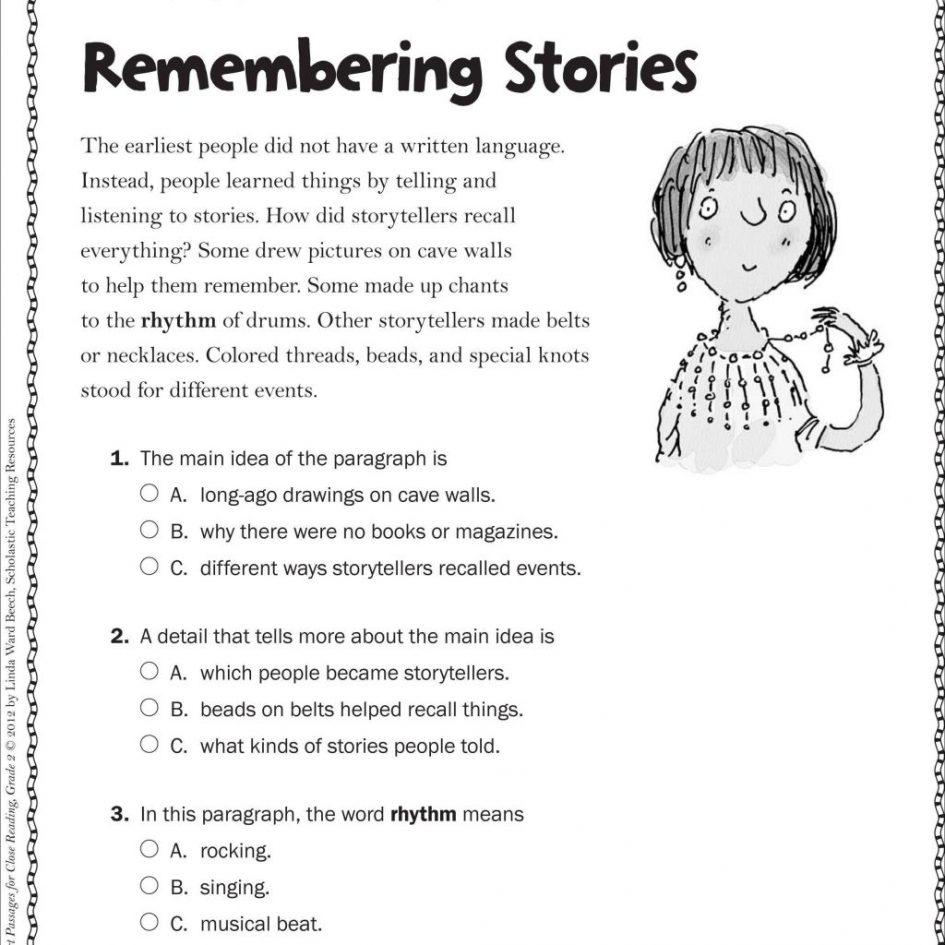 Free 2nd Grade Reading Comprehension Worksheets Multiple ...