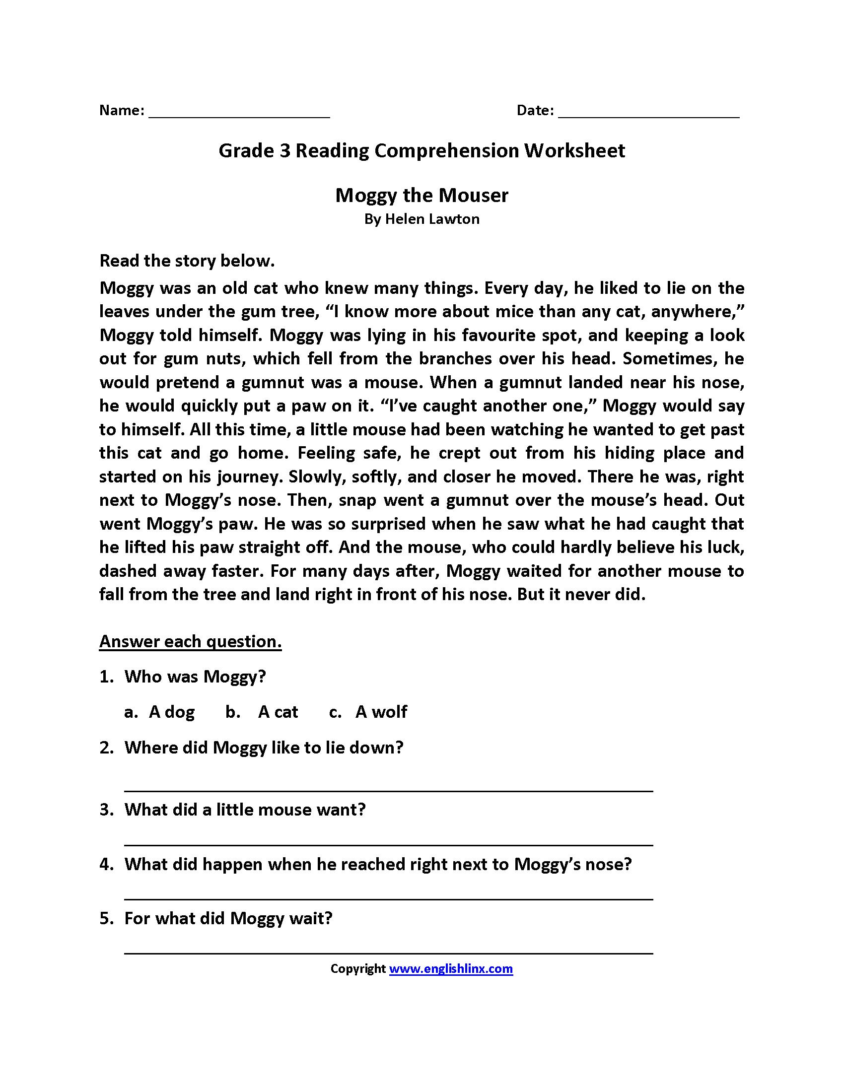 Free 3rd Grade Reading