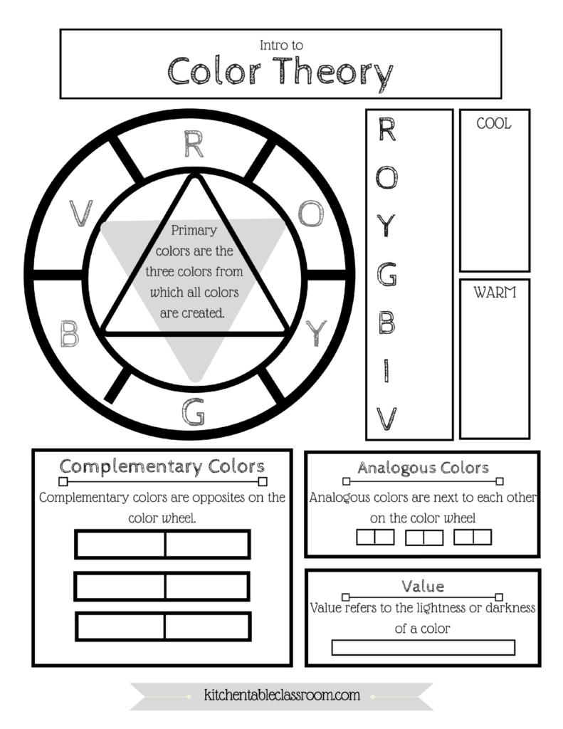 Free Color Wheel (& Color Theory) Printable