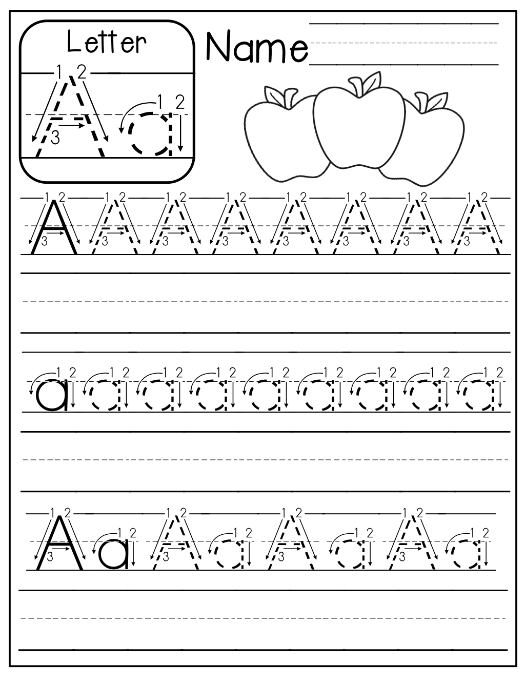 Free Handwriting Practice Pages! Just Place In Sheet Protectors