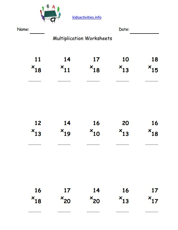 Free Math Worksheets For 3rd Grade Multiplication The Best