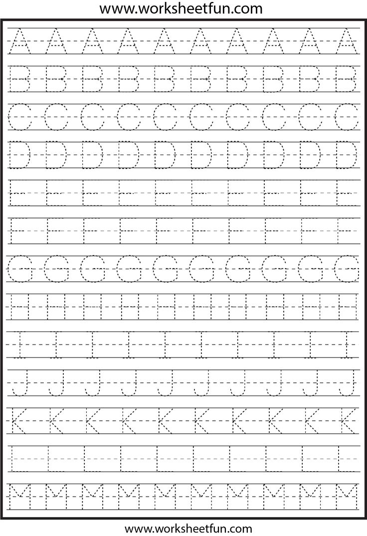 Free Printable Alphabet Tracing Worksheets For Preschoolers