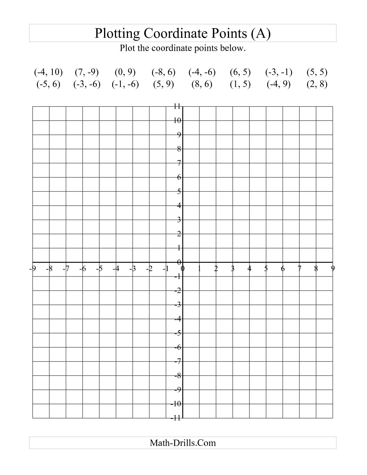 Free Printable Coordinate Graphing Worksheets The Best Worksheets
