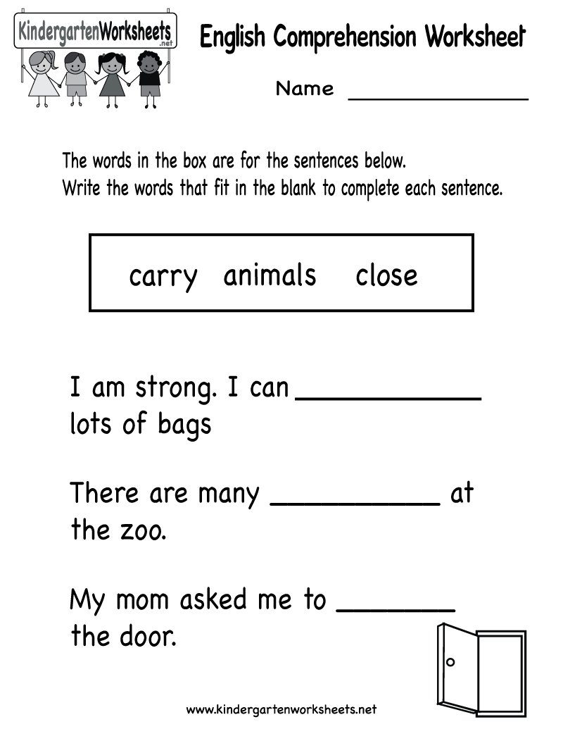 Free Printable Kindergarten Ela Worksheets 127759