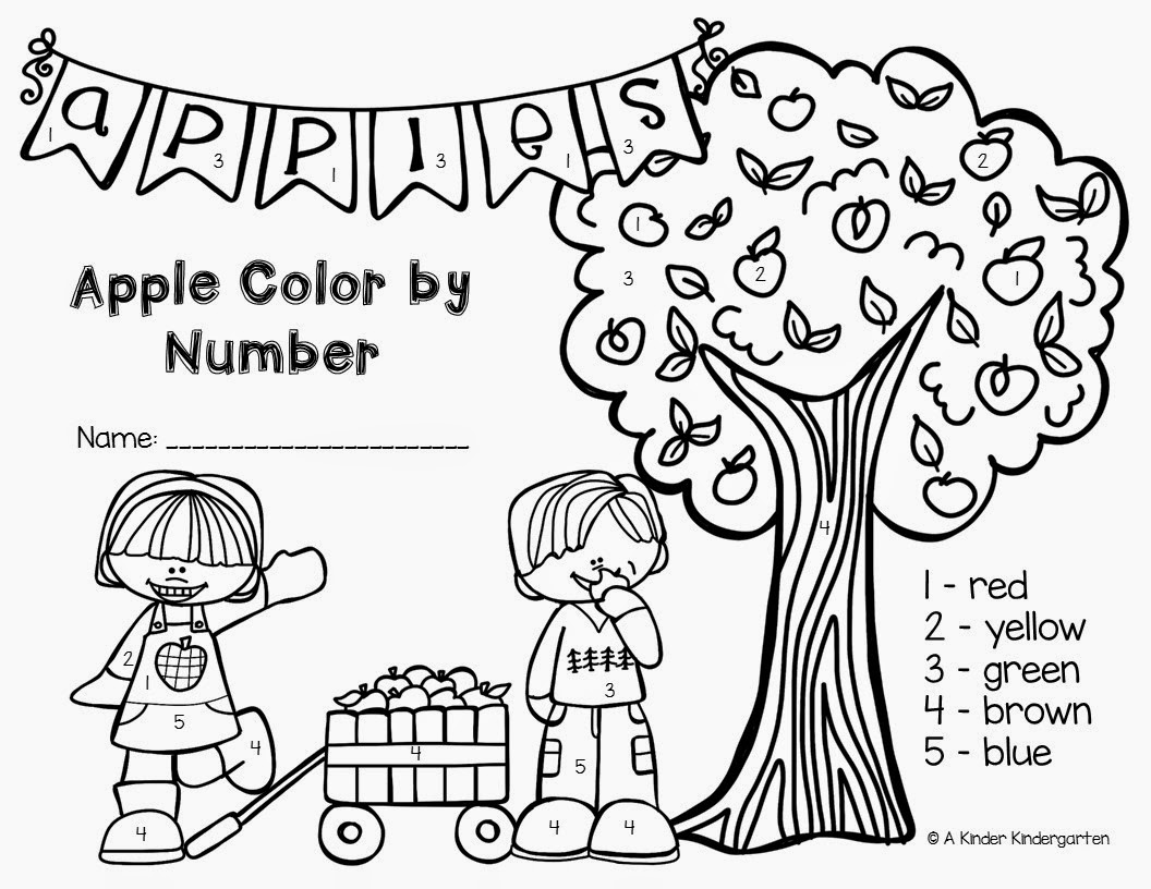 Free Printable Letter A Coloring Worksheet For Kindergarten Apple