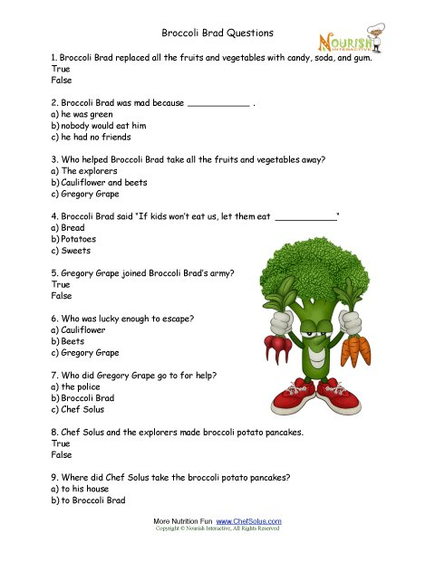 Free Printable Nutrition Worksheets For Kindergarten 441140