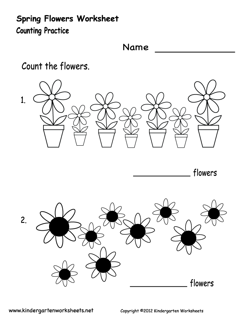 Free Printable Preschool Flower Worksheets 31958