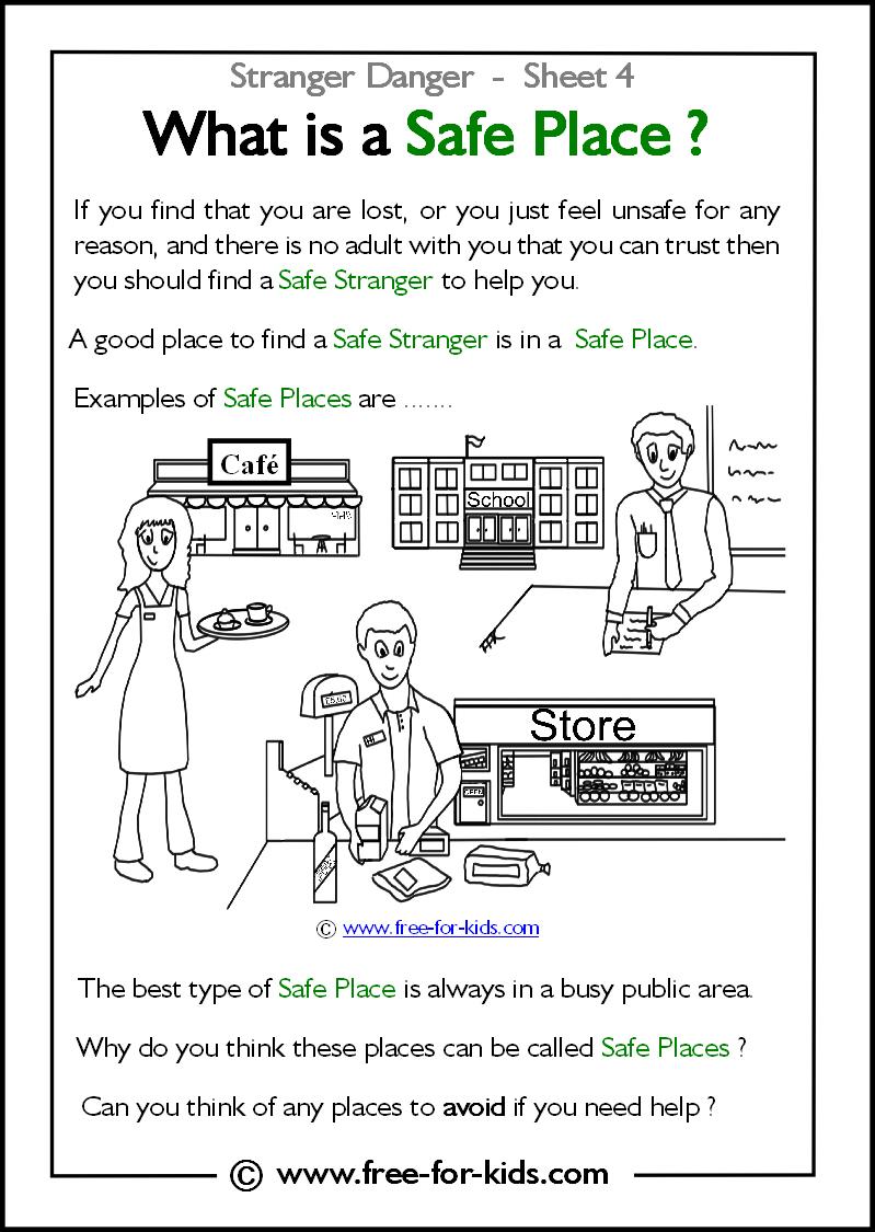 Free Printable Safety Worksheets Kindergarten 292512