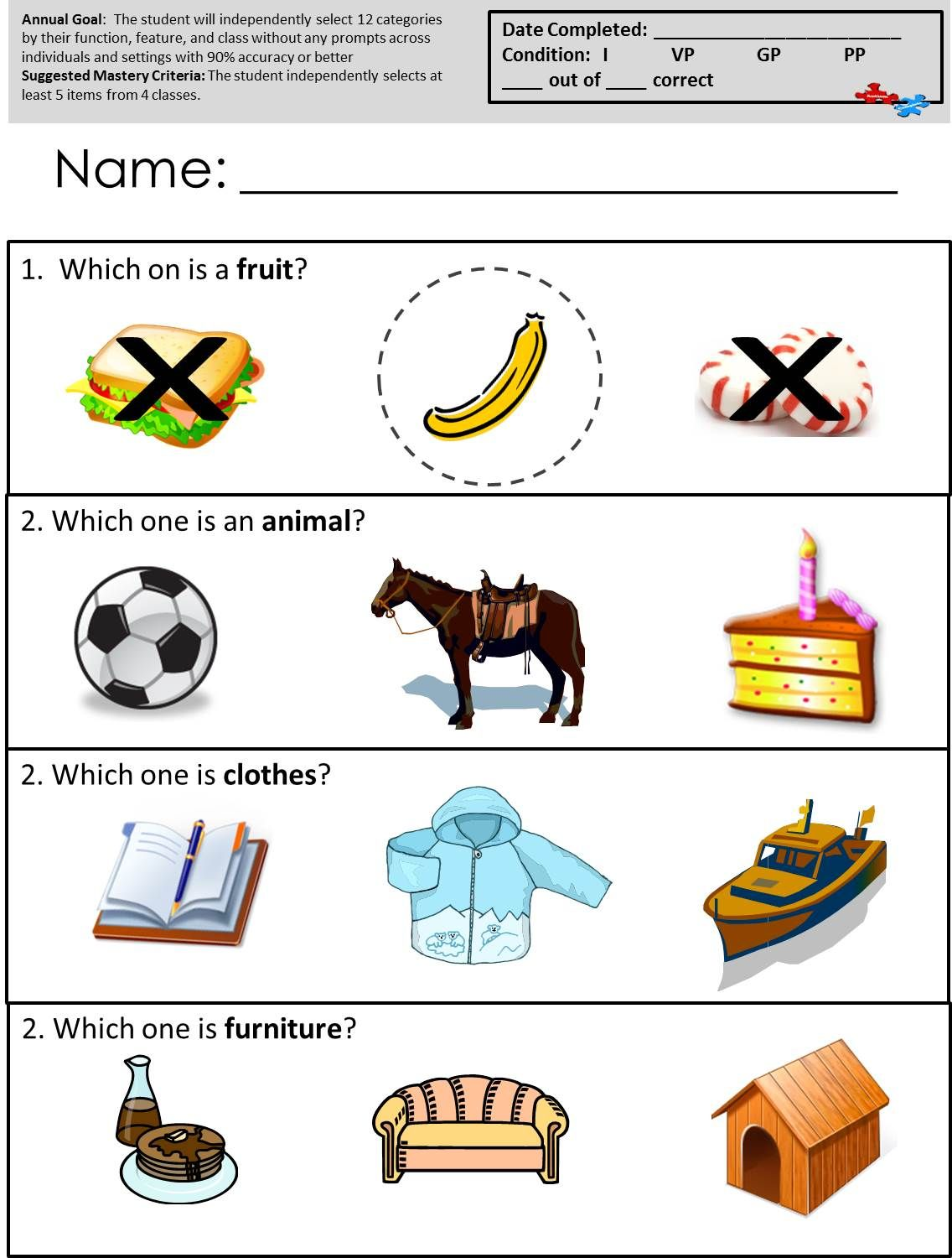 Free Printable Worksheets For Autism Classrooms! Available At
