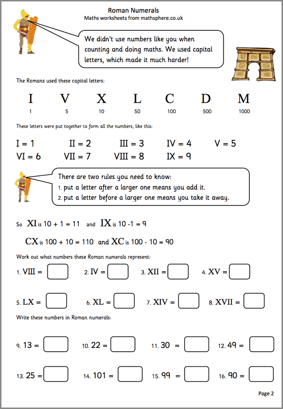 Free Roman Numeral Worksheets The Best Worksheets Image Collection